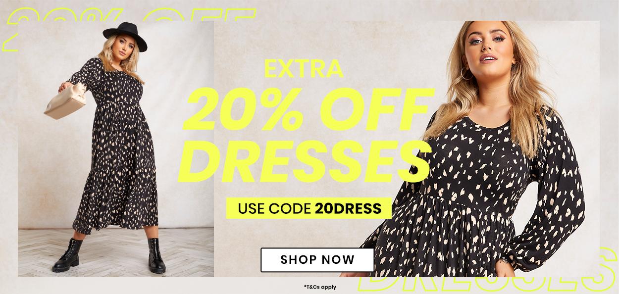 extra 20 % off dresses