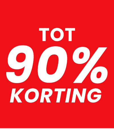 90% korting