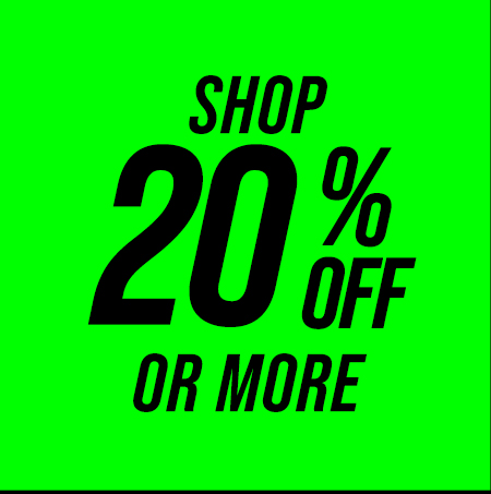 Shop 20% off