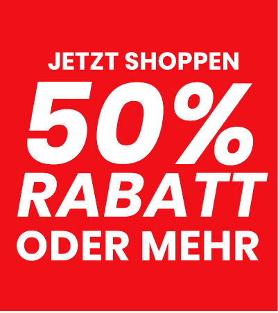 50% Rabatt oder mehr