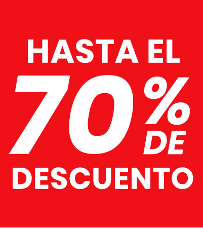 70% descuento