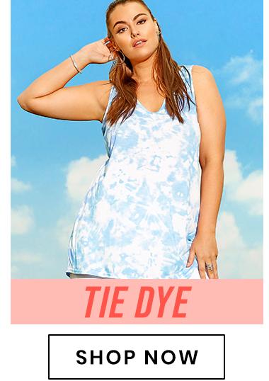 Plus size tie dye clothes