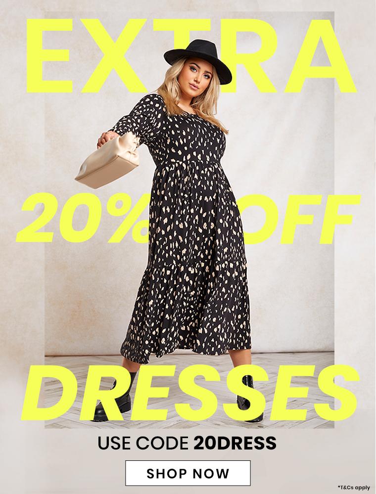 20% off dresses