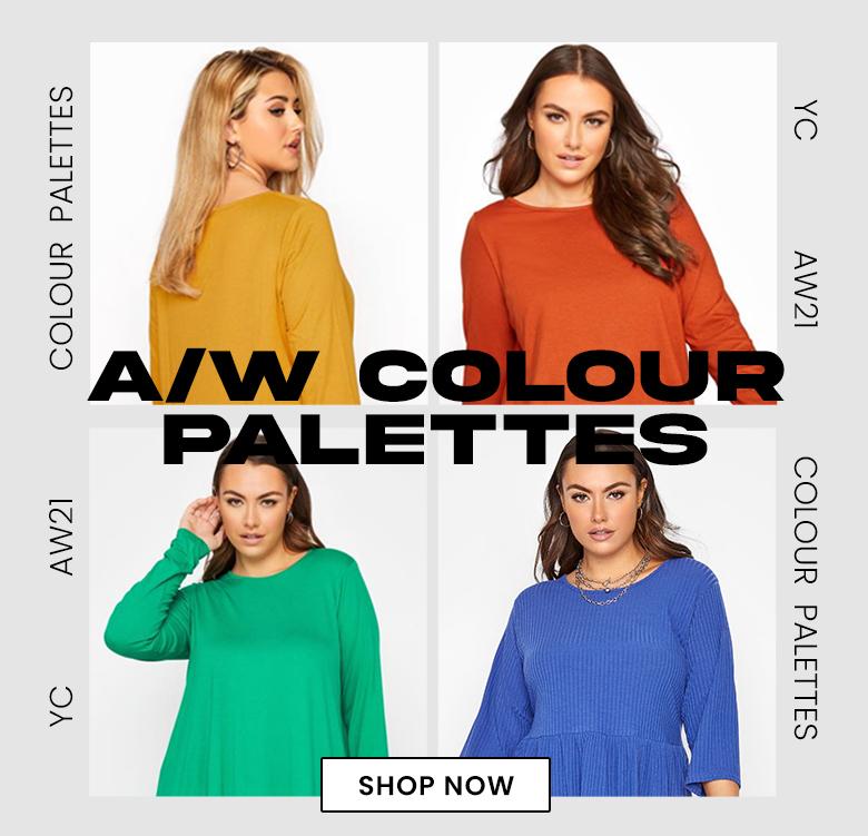 Plus Size green with envya/w colour palettes