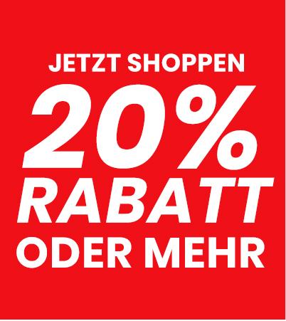 20% Rabatt oder mehr