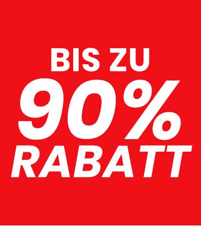 Bis zu 90% Rabatt