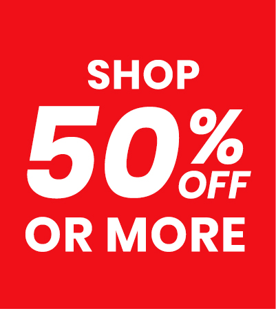 Shop 50% off or more