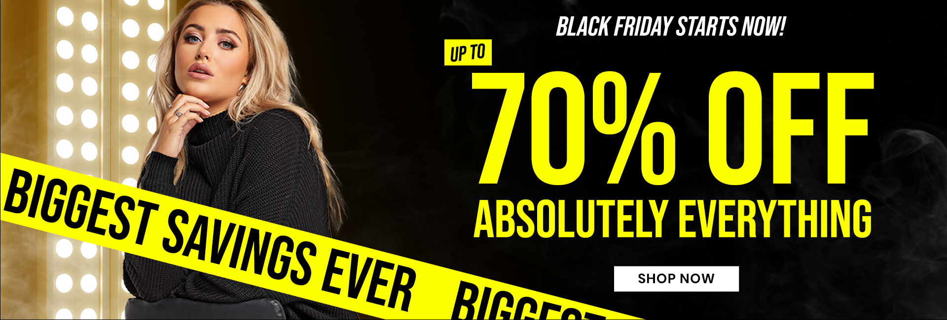 Black Friday is here - up to 70% off